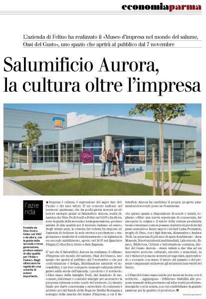 Gazzetta di Parma 16/10/2017 - Oasi del Gusto